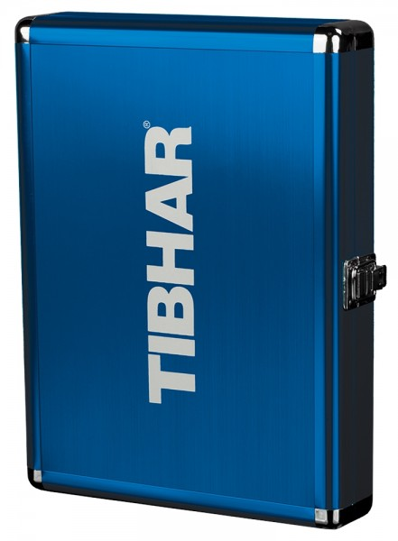 Tibhar Schlägerkoffer Alum Cube Exclusive royalblau