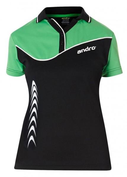 andro Hemd Brendan Women schwarz/grün/weiß
