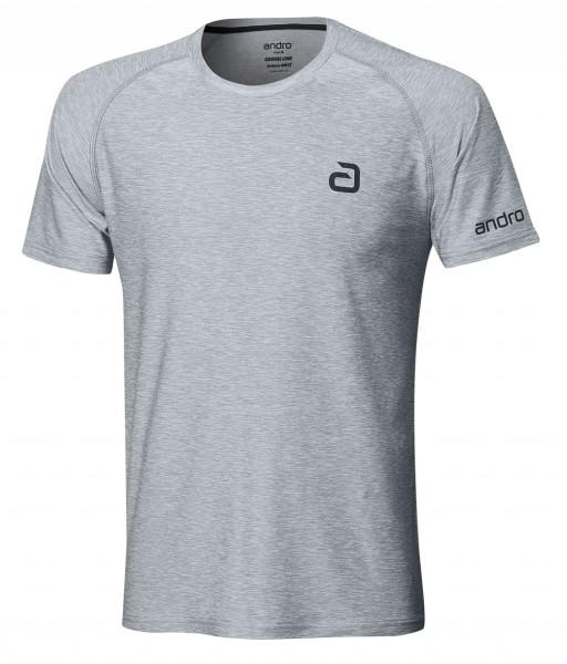 andro T-Shirt Melange Alpha Casual hellgrau
