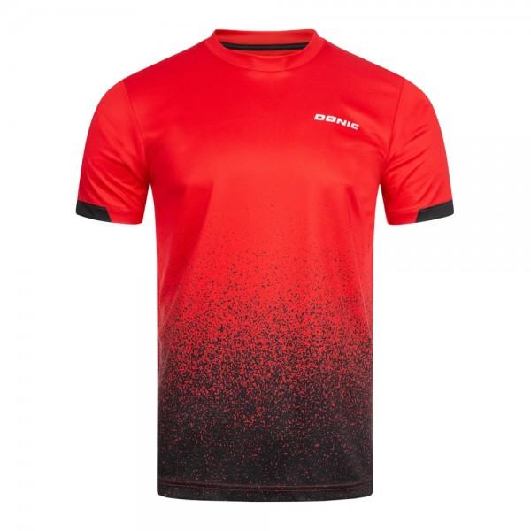 Donic T-Shirt Split rot/schwarz
