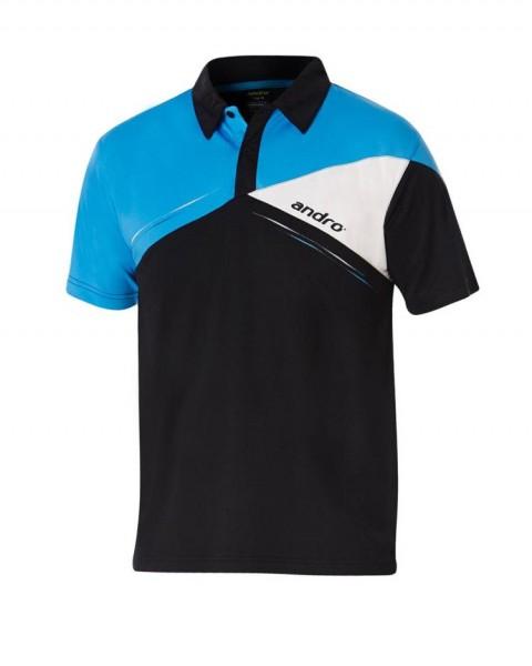 andro Hemd Conor Men schwarz/blau/weiß
