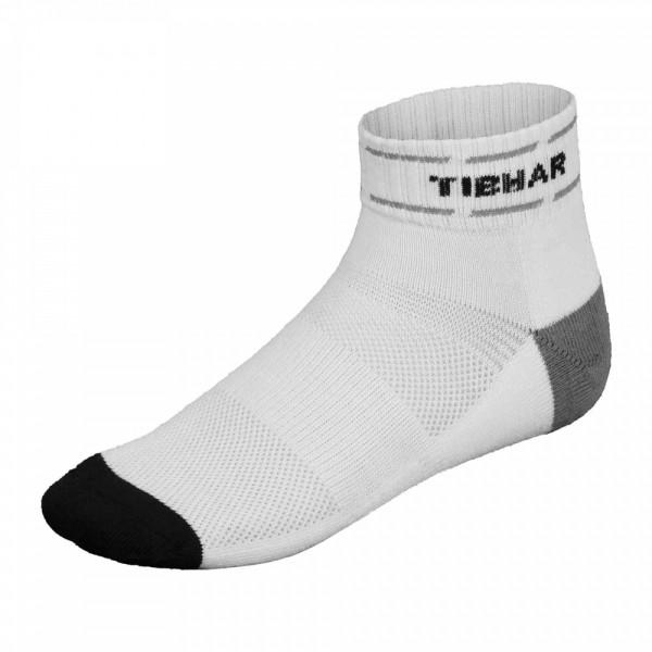 Tibhar Socke Classic Plus weiß/grau