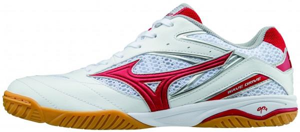 Mizuno Schuh Wave Drive 8 weiß/rot