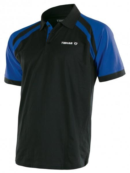 Tibhar Hemd World Men Polyester schwarz/blau