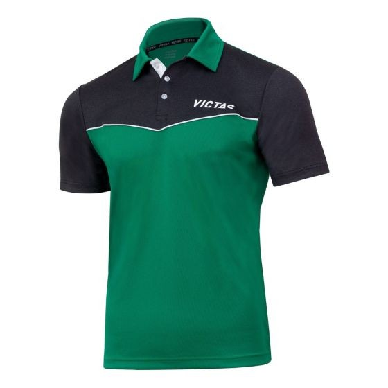 Victas Hemd V-Shirt 212 grün/anthrazit-melange
