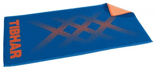 Tibhar Handtuch Triple X blau/orange