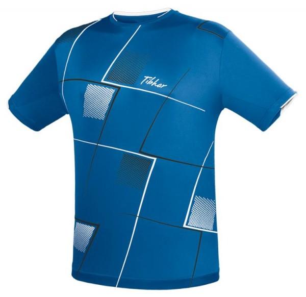 Tibhar T-Shirt Check blau/weiß/schwarz