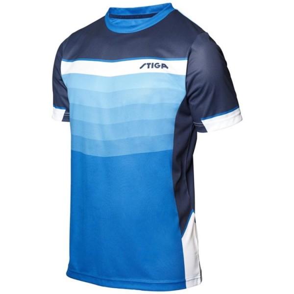Stiga T-Shirt River blau/marine/weiß