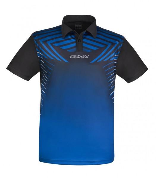Donic Hemd Boost Kids blau/schwarz