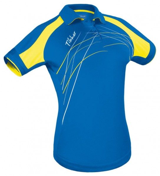 Tibhar Hemd Grip Lady blau/gelb/weiß