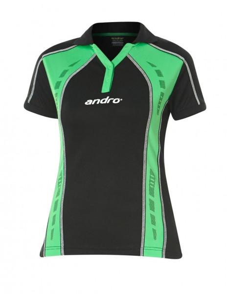 andro Hemd Mago Women schwarz/grün