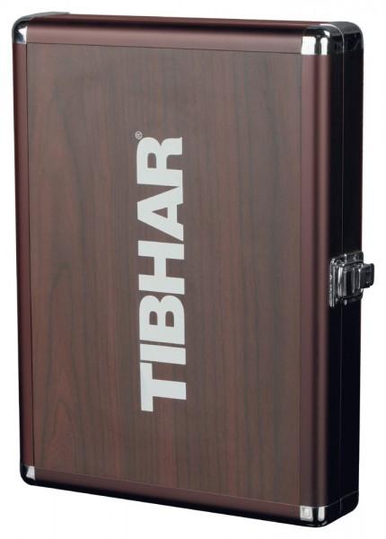 Tibhar Schlägerkoffer Alum Cube Premium holzfarben