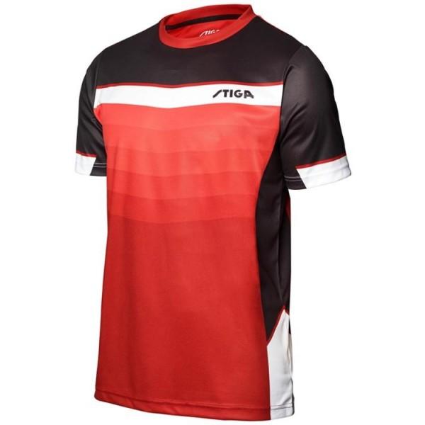 Stiga T-Shirt River rot/schwarz/weiß