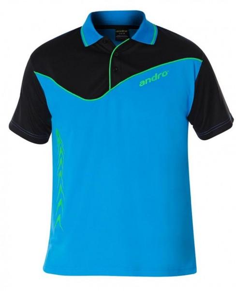 andro Hemd Brendan Men blau/schwarz/grün
