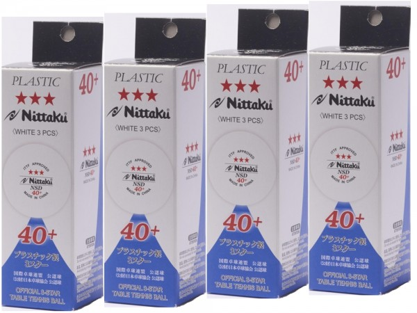 Nittaku Ball SD 40+ *** Cellfree ABS 12er Pack