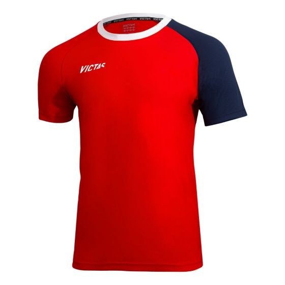 Victas V-T-Shirt 219 rot/navy