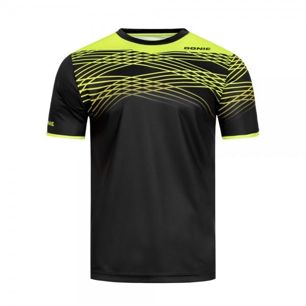 Donic T-Shirt Clix Kids schwarz/gelb