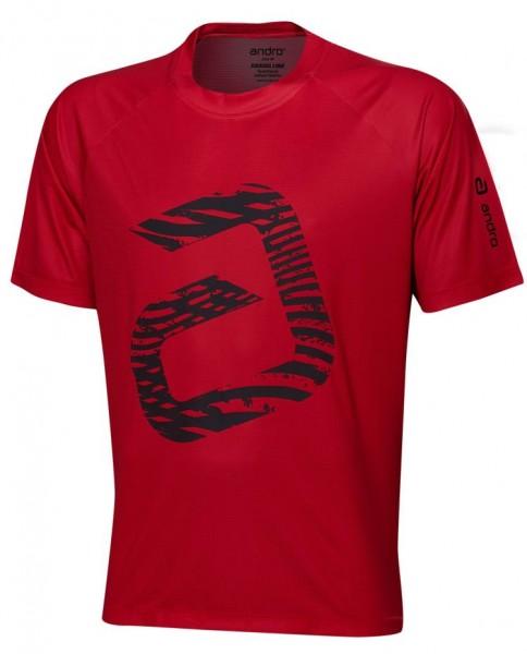 andro T-Shirt Ashton rot/schwarz