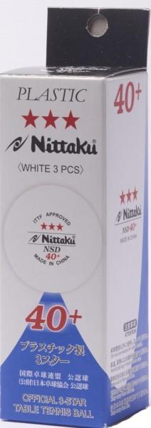 Nittaku Ball SD 40+ *** Cellfree ABS 3er Pack