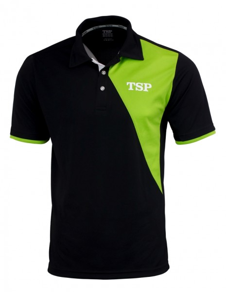TSP Hemd Tameo Men Poly schwarz/lime L