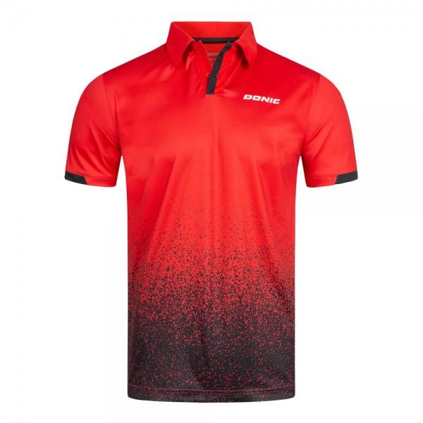 Donic Hemd Splash rot/schwarz