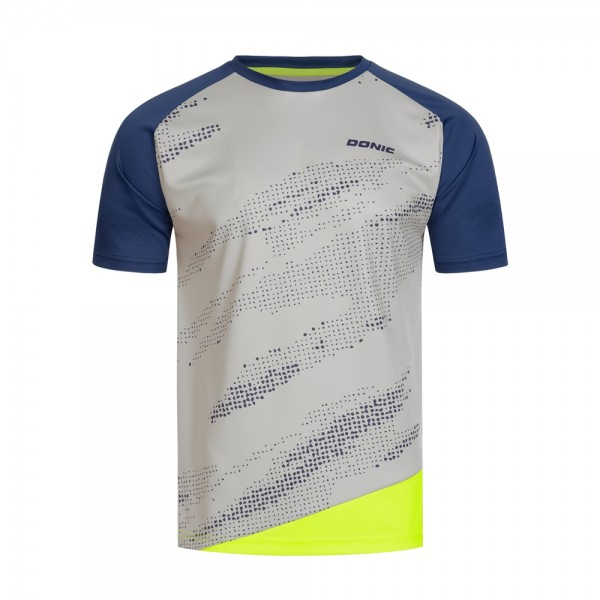 Donic T-Shirt Mirage Kids grau/marine/gelb