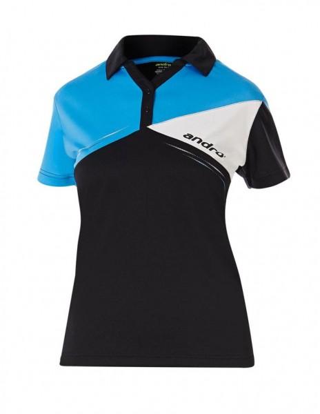 andro Hemd Conor Women schwarz/blau/weiß