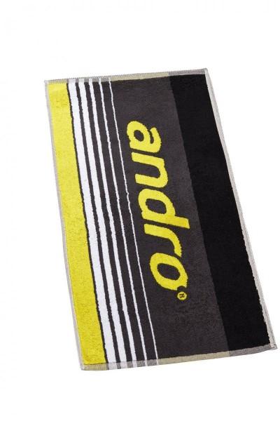andro Handtuch Spike grau/gelb