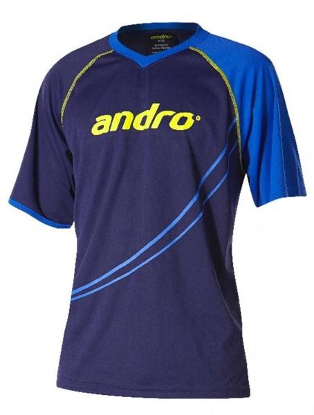 andro T-Shirt Dillon blau/gelb