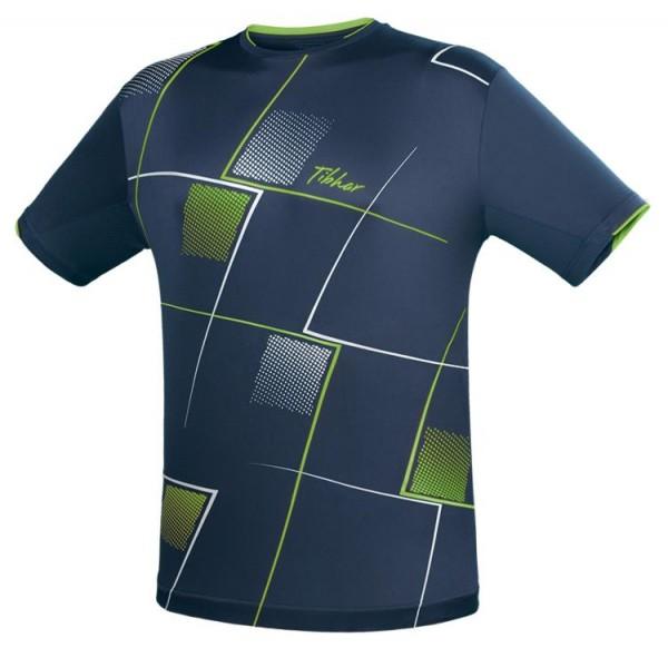 Tibhar T-Shirt Check marine/grün/weiß
