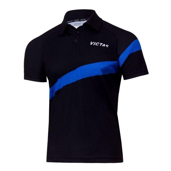 Victas Hemd V-Shirt 215 schwarz/blau