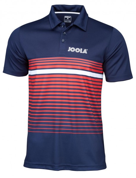 Joola Hemd Stripes navy/rot XL