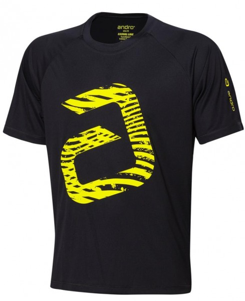 andro T-Shirt Ashton schwarz/gelb