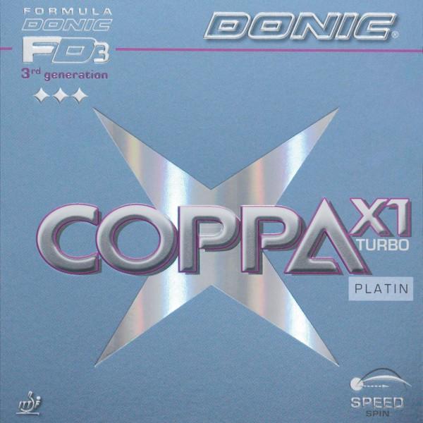 Donic Belag Coppa X1 Turbo Platin