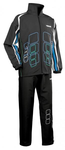 Tibhar Anzug Cube schwarz/blau