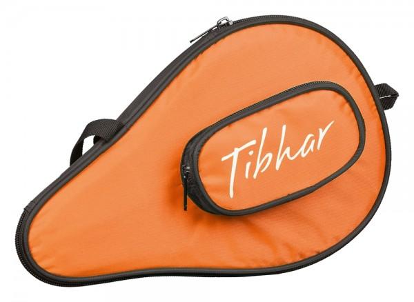 Tibhar Einzelhülle Metro rund mit Ballfach schwarz/orange