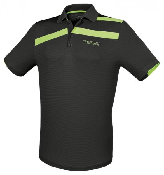 Tibhar Hemd Stripe schwarz/grün
