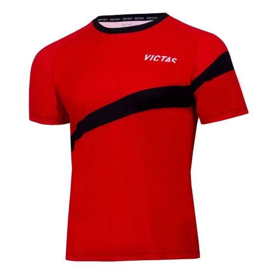 Victas V-T-Shirt 216 rot/schwarz