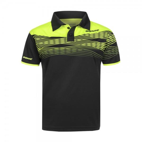Donic Hemd Clashflex Men schwarz/gelb