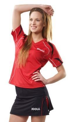 Joola Lady-Shirt Mesa rot/schwarz