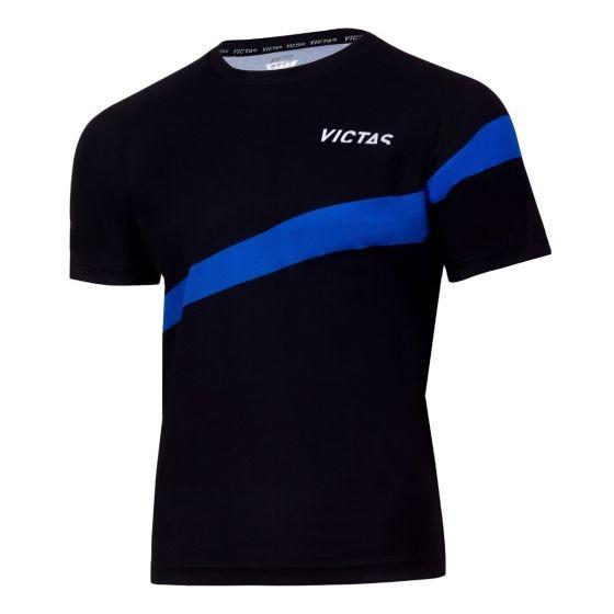 Victas V-T-Shirt 216 schwarz/blau