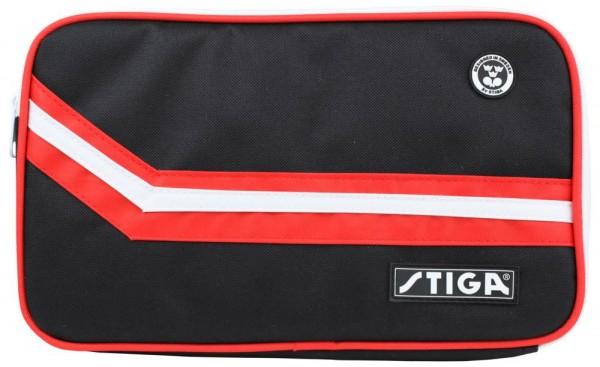 Stiga Doppelhülle Elegant eckig schwarz/rot