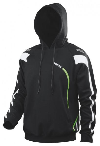 Tibhar Sweatjacke Trial schwarz/grün/weiß