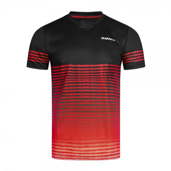 Donic T-Shirt Tropic Kids schwarz/rot