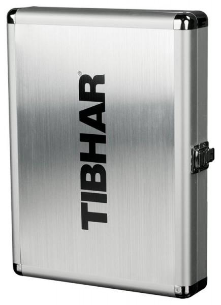Tibhar Schlägerkoffer Alum Cube Exclusive silber