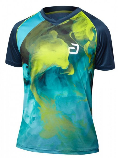 andro T-Shirt Kane navy/lime/grau