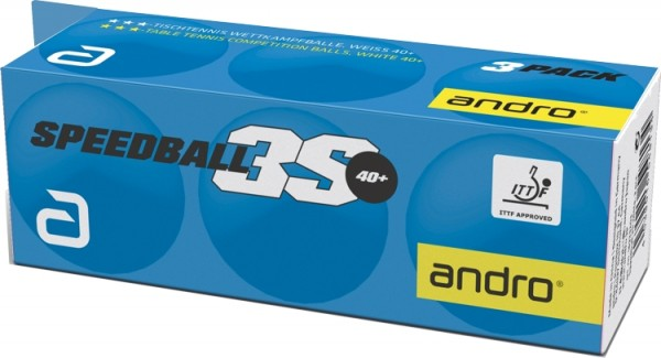 andro Ball Speedball 3S 40+ cellfree ABS 3er Pack