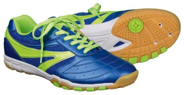 Tibhar Schuh Blue Thunder blau/limegrün