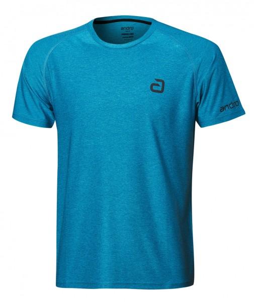 andro T-Shirt Melange Alpha Casual petrol