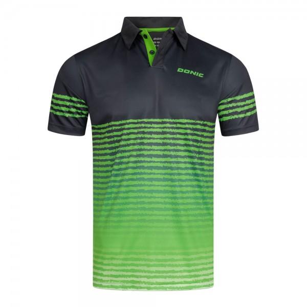 Donic Hemd Libra schwarz/limegrün